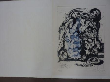 Engraving Dali - Personaje Encadenado (La Vida Sueno)