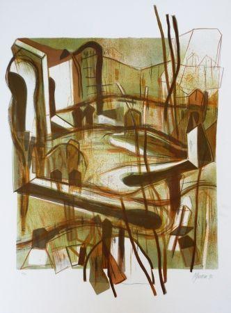 Lithograph Macotela - Personas y sus sombras