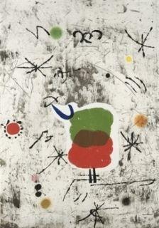 Etching And Aquatint Miró - Personatge I Estels I
