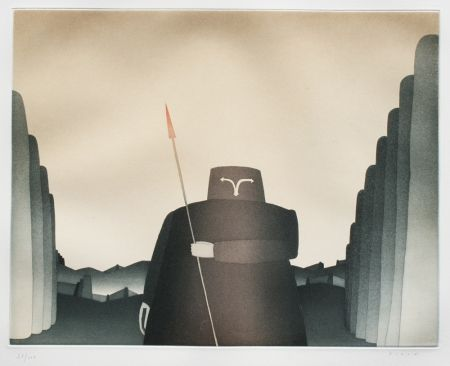 Etching And Aquatint Folon - Personnage