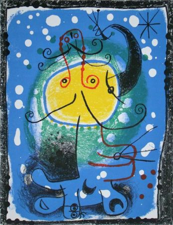 Lithograph Miró - Personnage