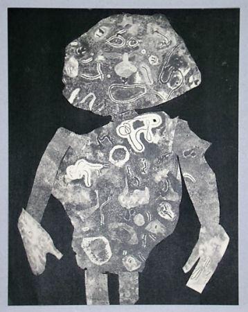 Pochoir Dubuffet - Personnage, 1955