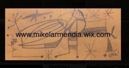 No Technical Miró - Personnage dans un paysage