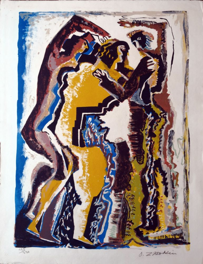 Lithograph Zadkine - Personnages