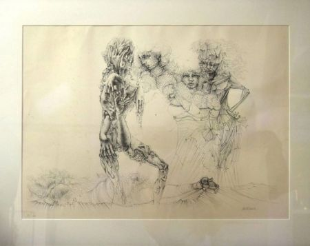 Etching And Aquatint Bellmer - Personnages