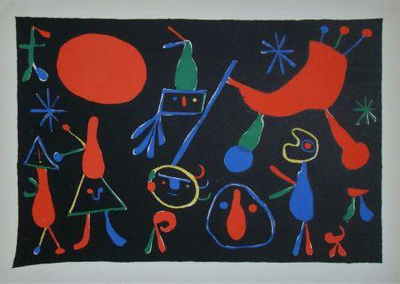 Lithograph Miró - Personnages