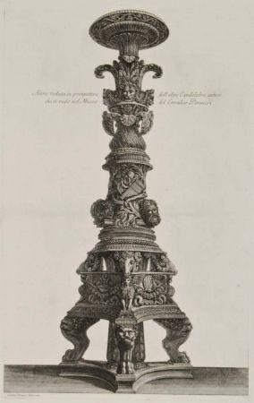 Etching Piranesi - Perspectiva de candelabro
