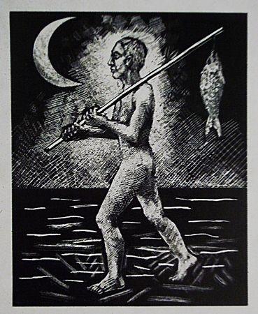 Lithograph Llimos - Pescador