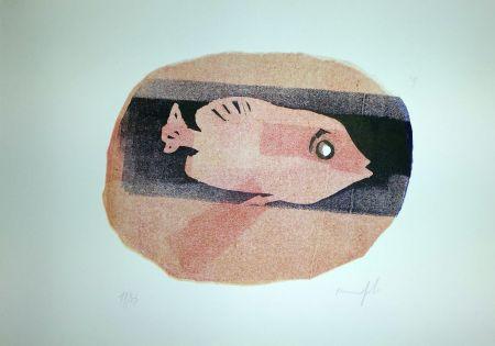 Linocut Manfredi - Pesce