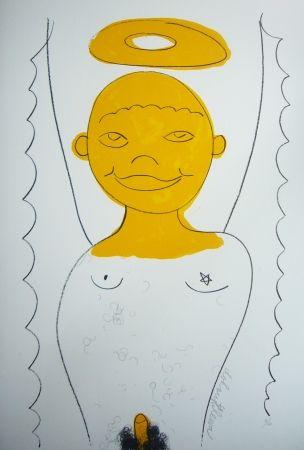 Lithograph Dokoupil - Petit ange 3