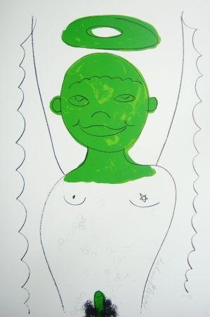 Lithograph Dokoupil - Petit ange 4