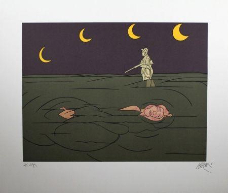 Lithograph Adami - Petit clair de lune