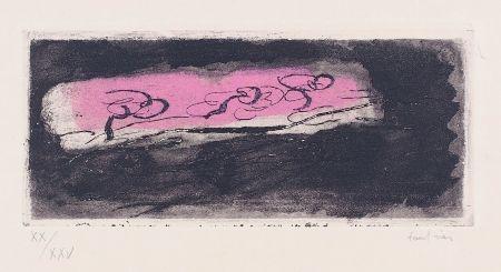Etching And Aquatint Fautrier - Petit paysage sombre