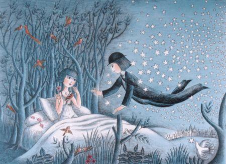 Lithograph Peynet - Petit prince