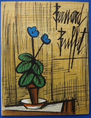 Lithograph Buffet - Petite primevère bleue