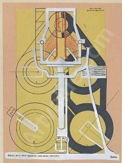Pochoir Picabia - Petite solitude au milieu des soleils