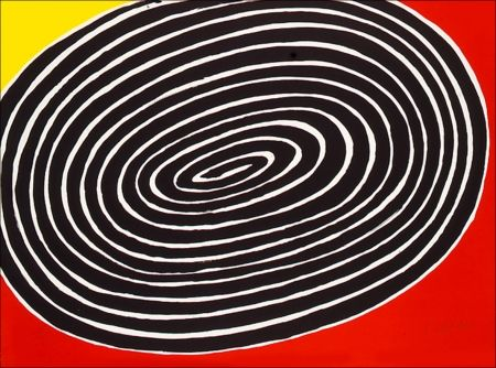 Lithograph Calder - Petite spirale