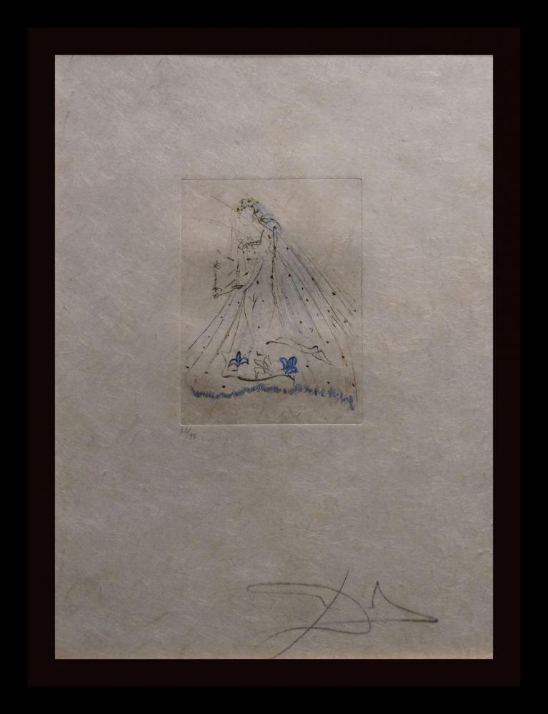 Etching Dali - Petites Nus (Ronsard) A