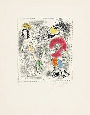 Lithograph Chagall - Petits paysans II (Kleinbauern II)