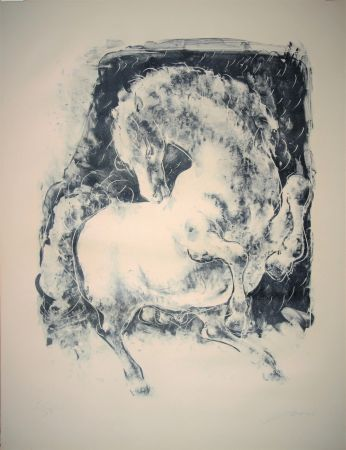 Lithograph Erni - Pferd