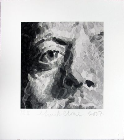Screenprint Close - Phil (detail)