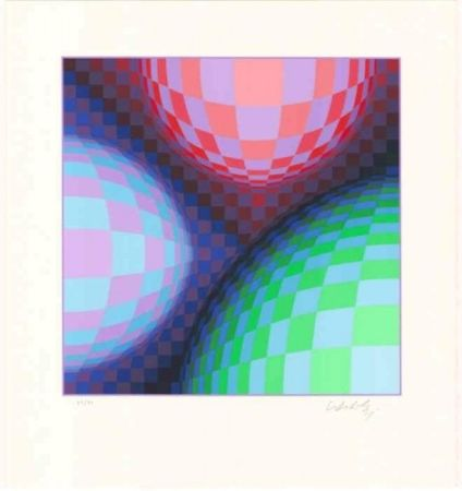 Lithograph Vasarely - Phoenix Constellation