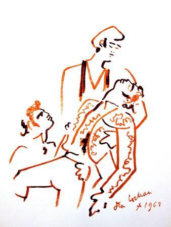 Lithograph Cocteau - Piété Espagnole