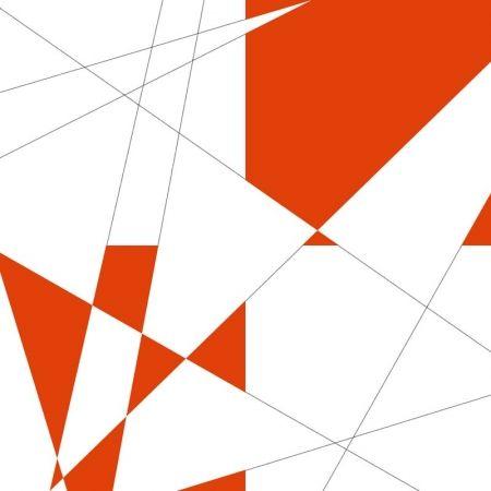 Lithograph Morellet -  pi & plis