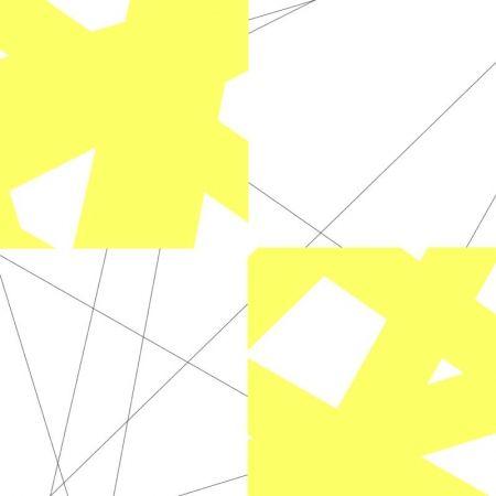Lithograph Morellet - Pi& plis