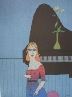 Etching Wunderlich - Pianiste