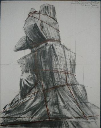 Lithograph Christo - PIAZZA DEL DUOMO MILAN
