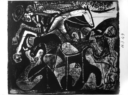 Lithograph Picasso - Picador