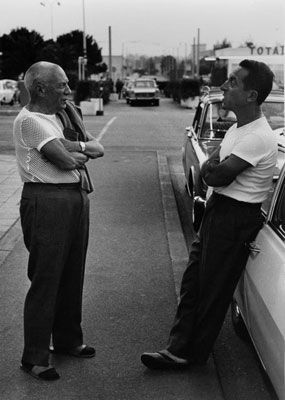 Photography Clergue - PICASSO AND TAXIDRIVER