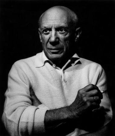 Photography Clergue - Picasso con un cigarro