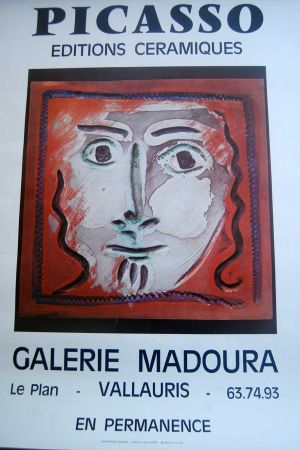 Poster Picasso - Picasso Editions Ceramiques. Galerie Madoura
