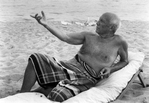 Photography Clergue - Picasso En La playa