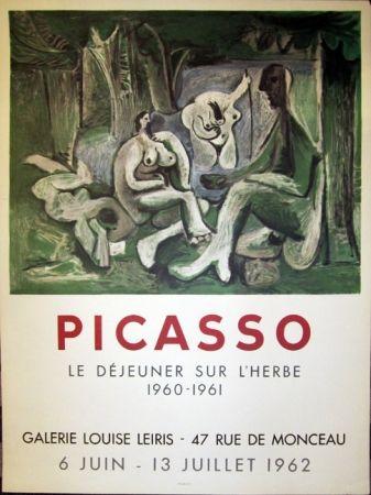 Lithograph Picasso - Picasso, Le Dejeuner sur L'Herbe, Galerie Louise Leiris