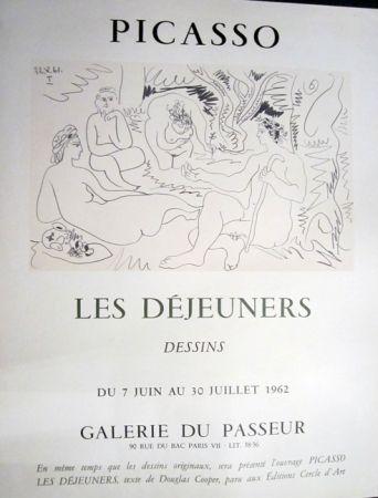 Lithograph Picasso - PIcasso, Les Dejeuners, Dessins, Galerie Du Passeur