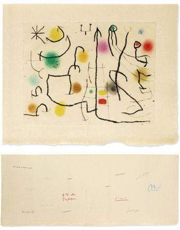 Illustrated Book Miró - [Picasso, Miro, Giacometti...] - ‎ ‎ILIAZD (Ilya Zdanévitch, dit)‎ ‎HOMMAGE À ROGER LACOURIÈRE.