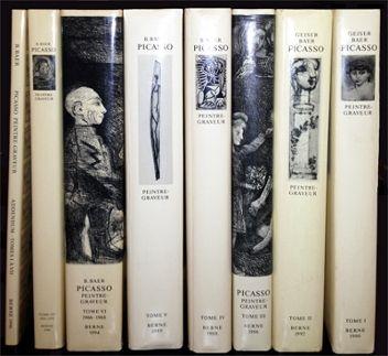 Illustrated Book Picasso - Picasso. Peintre-Graveur. Catalogue raisonné de l'oeuvre gravé. 1899-1972. 7 Volumes + Adenda