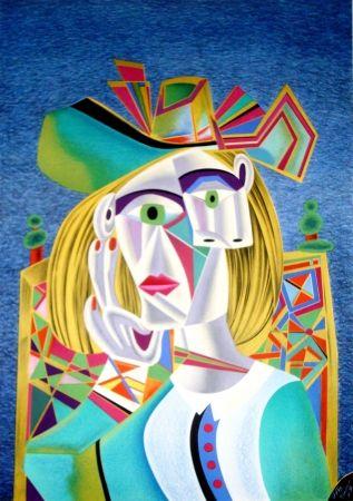 Lithograph Chemiakin - Picasso transformation 4