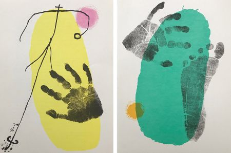 Lithograph Miró - Pieds et Mains (Paire)