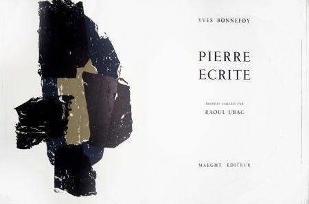 Lithograph Ubac - Pierre écrite