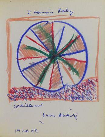 No Technical Alechinsky - Pierre Alechinsky (né en 1927). Dessin original signé et daté.