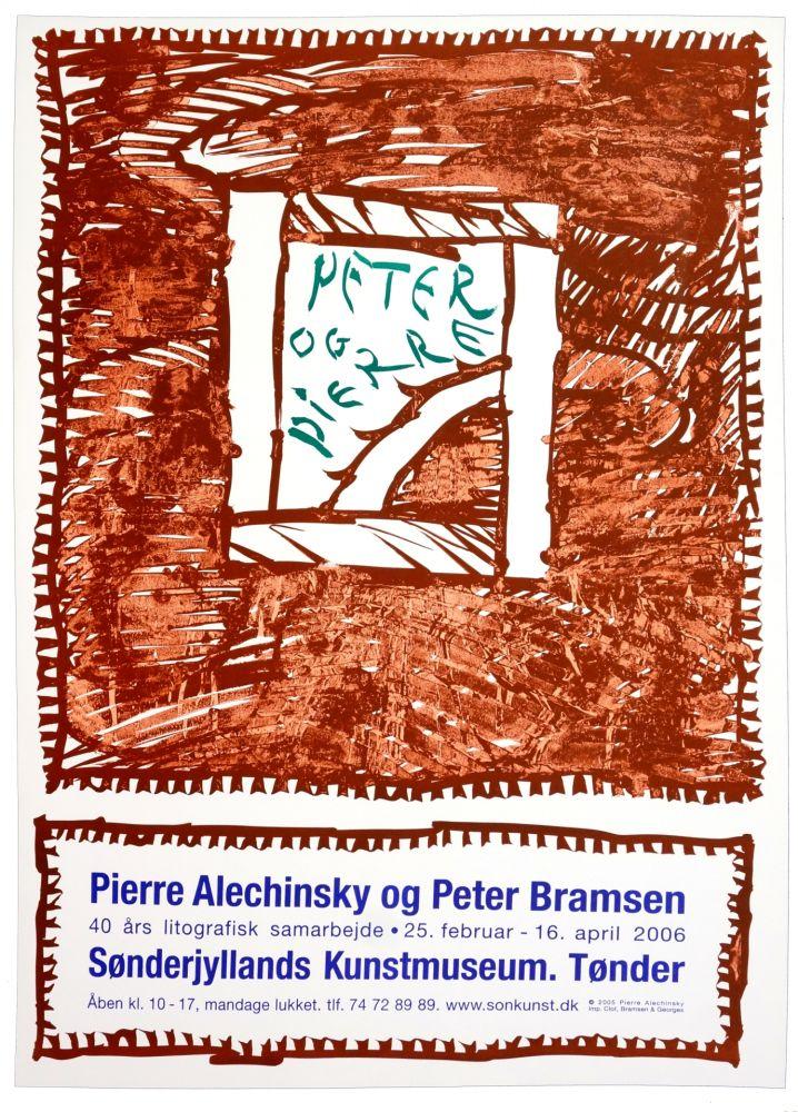 Poster Alechinsky - Pierre Alechinsky og Peter Bramsen, Sønderjylland Kunstmuseum. Tønder