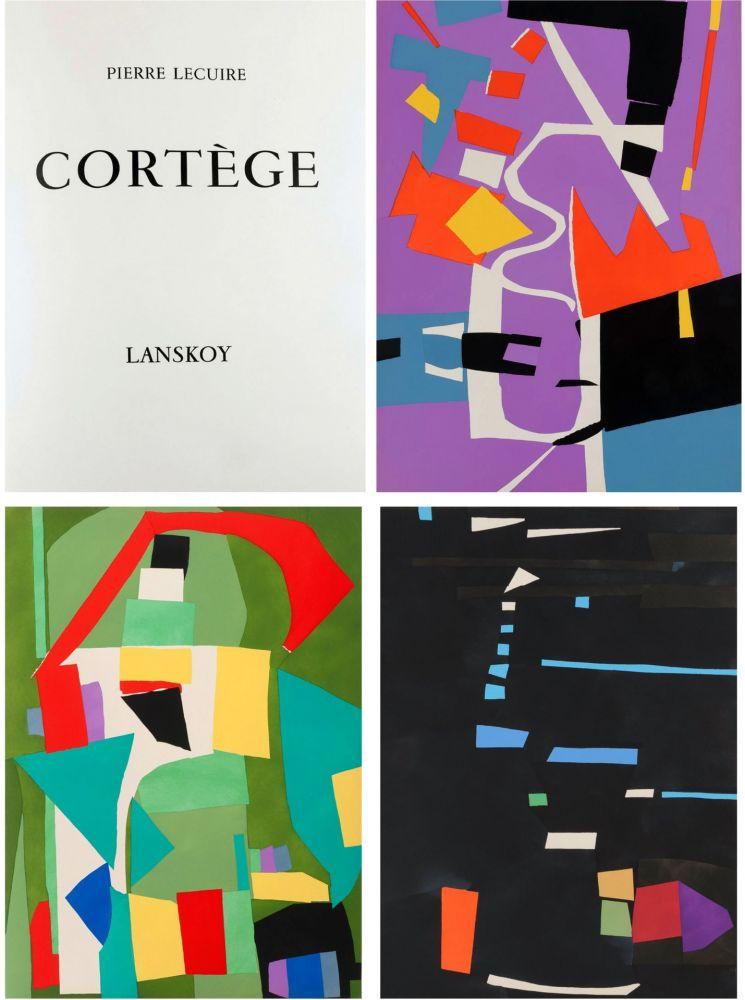 Illustrated Book Lanskoy - Pierre Lecuire : CORTÈGE. 24 pochoirs (ex. de tête avec suite complète) 1959.