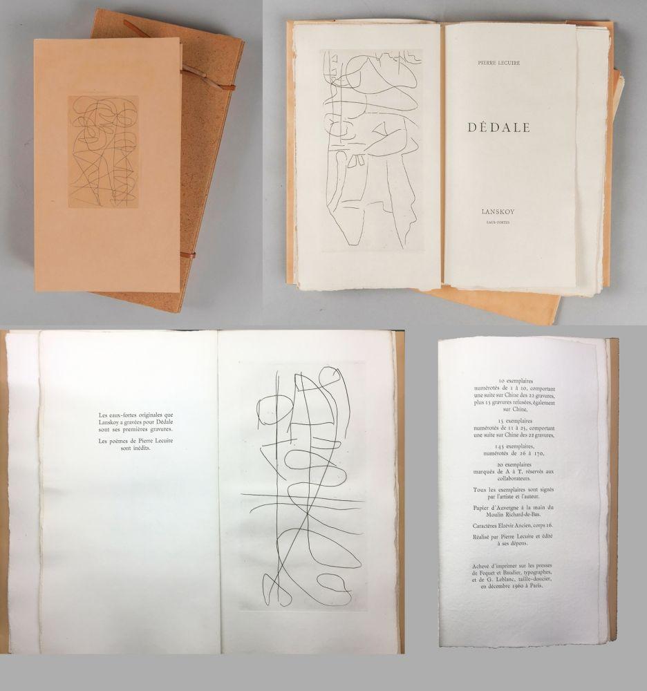 Illustrated Book Lanskoy - Pierre Lecuire : DÉDALE. Lanskoy eaux-fortes (1960).