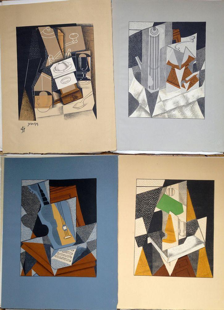 Illustrated Book Gris  - Pierre Reverdy : AU SOLEIL DU PLAFOND. 11 LITHOGRAPHIES COULEURS (1955).