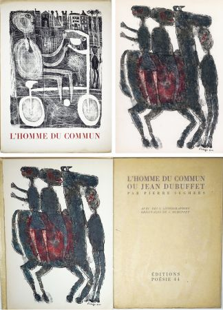 Illustrated Book Dubuffet - Pierre Seghers : L'HOMME DU COMMUN ou Jean Dubuffet (1944).