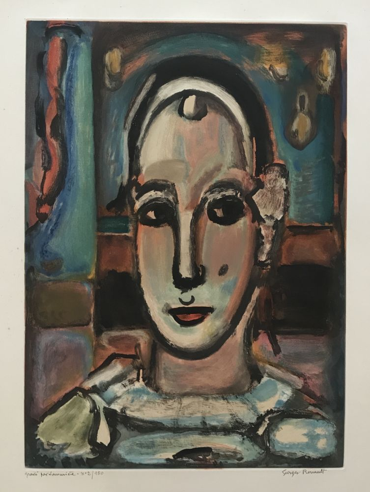 Etching And Aquatint Rouault - Pierrot